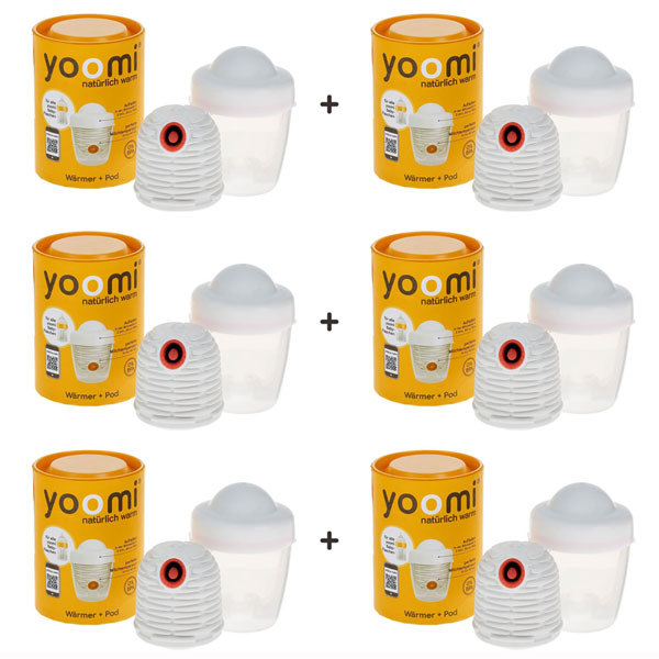 6 x YOOMI Warmer & Pod Set